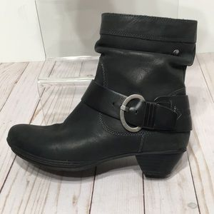 PIKOLINOS black ankle boot EU 37 with buckles